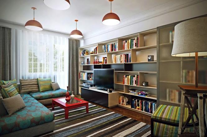Colorful modern decor