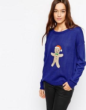 Image 1 ofBrave Soul Ginger Bread Man Christmas Jumper