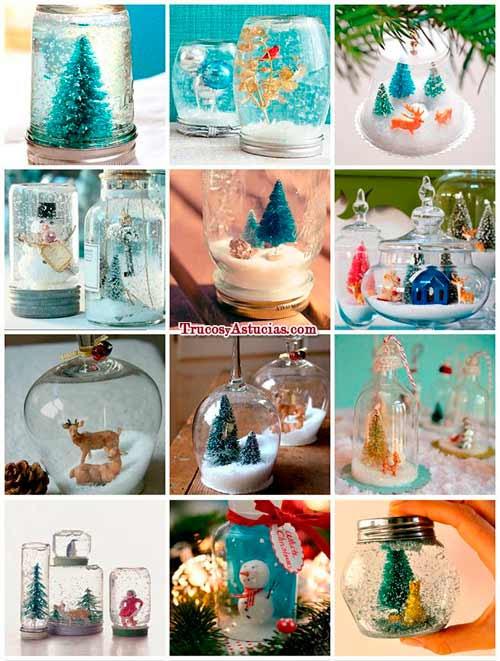 manualidades de bolas de nieve