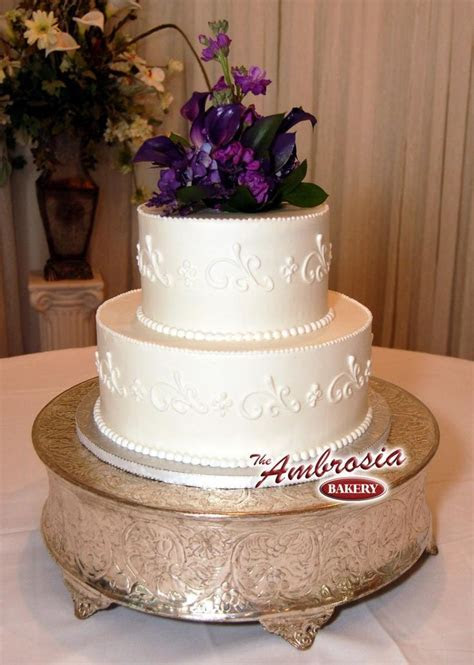 Simple 2 Tier Wedding Cakes   Tier Buttercream Simple