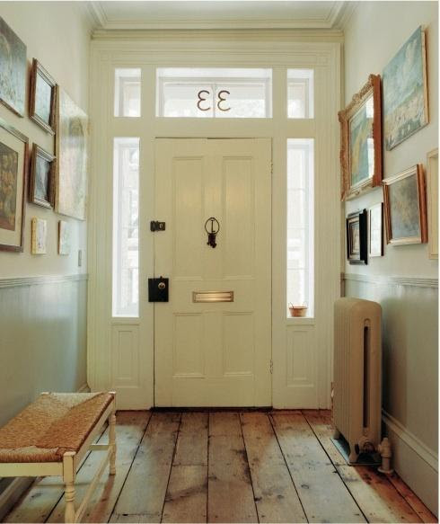 Rustic Plank Floor - Transitional - entrance/