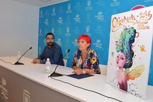 Presentación del programa del Carnaval 2014 de Las Palmas de Gran Canaria