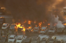 Newark Airport: At least a dozen vehicles on fire as blaze breaks out in carpark