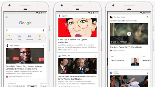 Google to add 'news feed' to website and app - BBC News