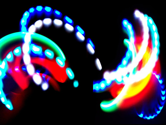 Fire and Ice LED Rave Gloves | Dream Rave