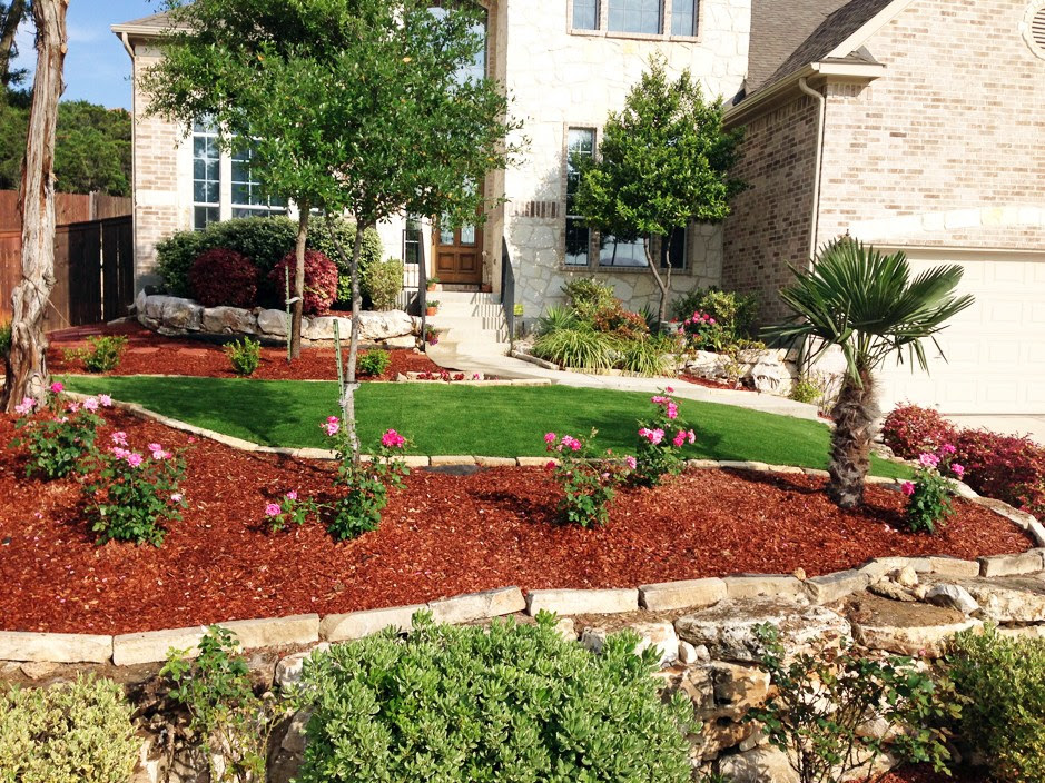 front-yard-landscaping-ideas-with-mulch - Blue Rock ...