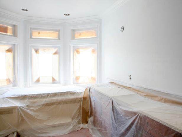 Painting Preparation in Bathroom Remodel