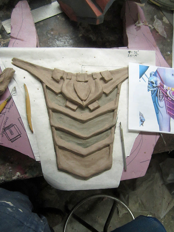 Skirt Front Sculpt Nearing Completion