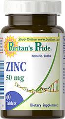 Zinc Gluconate 50 mg Tablets  60 Tablets 50 mg $2.99