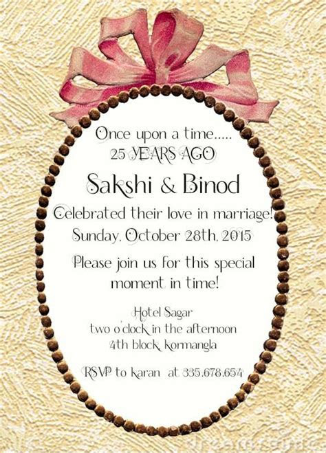 22 best 25th Silver Wedding Anniversary Invitation