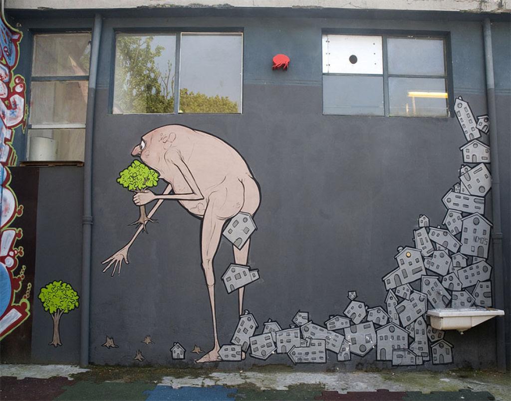 24 eloquentes obras de arte urbana mostrando a desagradável verdade 12