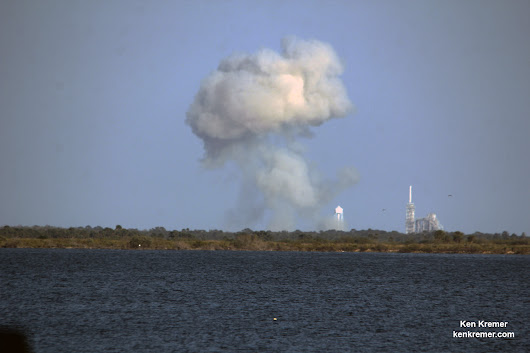 SpaceX Falcon 9 Breaths First Fire at KSC Pad 39A - Successful Static Fire Test Paves Path to Feb. 18 ISS Launch - Universe Today