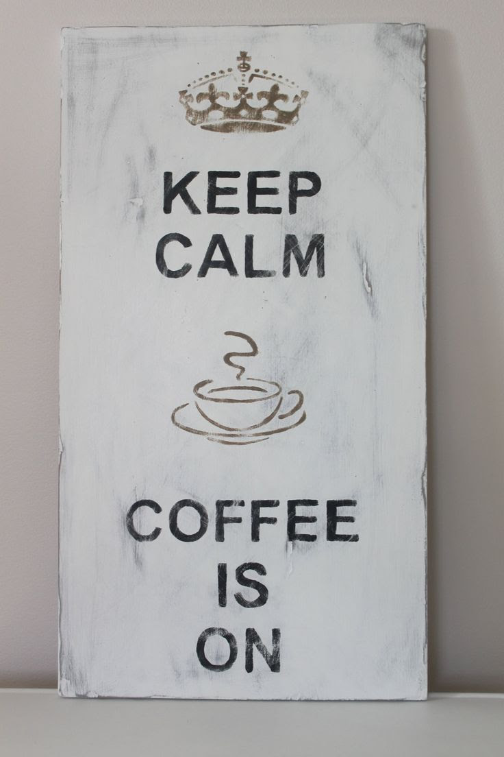 Wood Wall Art Sign Vintage Style Keep Calm Coffee Is by InMind4U, $39.00