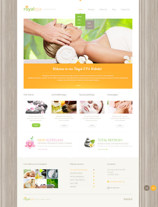 Spa Salon Free WordPress Theme 580 - Free Templates Online: Free Web Templates Resource