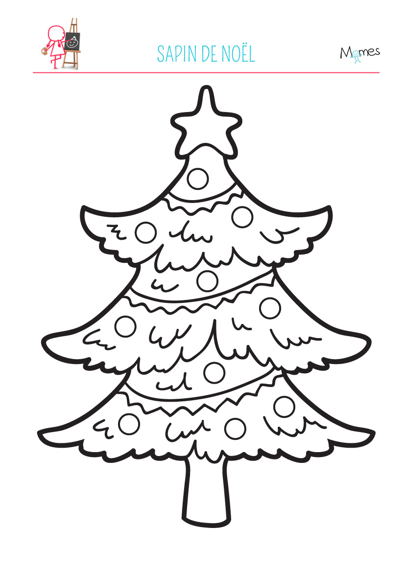 Coloriage Sapin de Noel