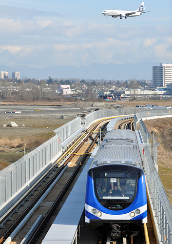 Canada Line Testing Near YVR - Vancouver International Airport by indyinsane.