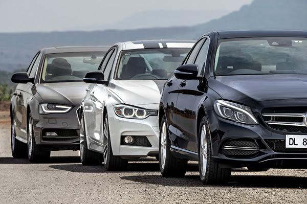 New Mercedes-Benz C-class vs BMW 3-series vs Audi A4 ...