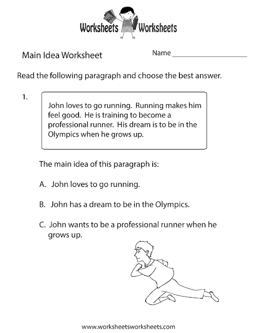 Free Printable Main Idea Worksheets Worksheets For School Getadating – Main Idea Worksheet