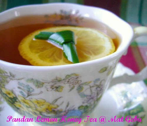 Pandan Lemon Honey Tea