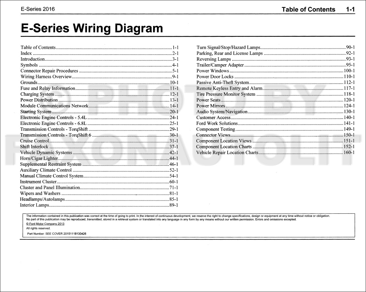 2016 Ford E-350 and E-450 Wiring Diagram Manual Original
