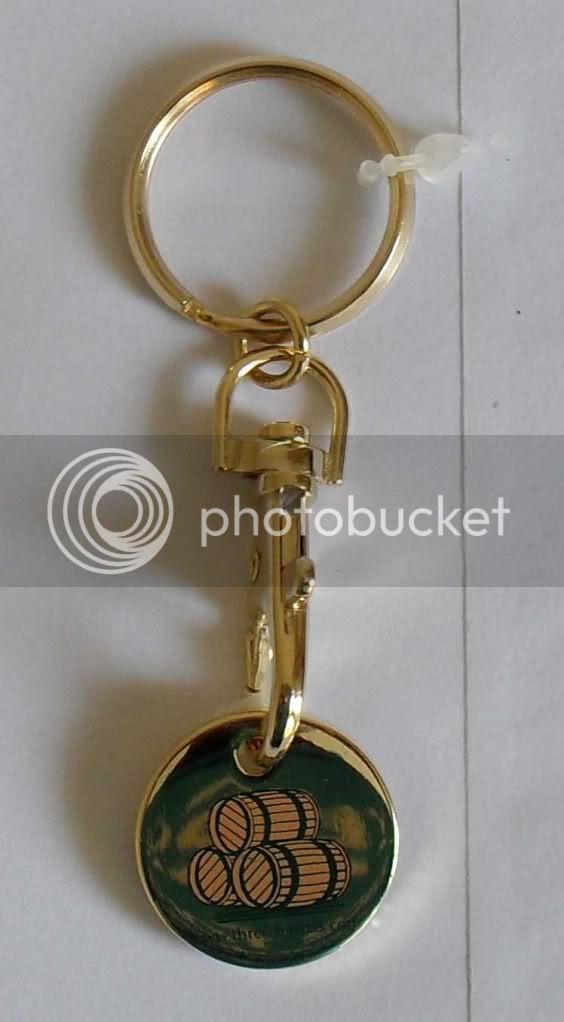 OFFICIAL THREE BARRELS BRANDY KEY RING LOCKER COIN £5  eBay