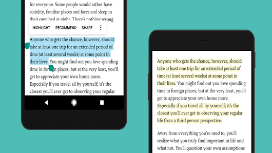 Ability to highlight text passages comes to Pocket's Android app