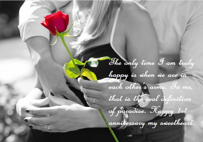 First Wedding Anniversary Wishes For Wife Quotes Best Wishes