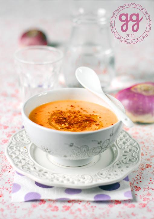 zuppa, rape e latte di cocco