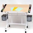 Pro Craft Station - White/Maple - Studio Designs