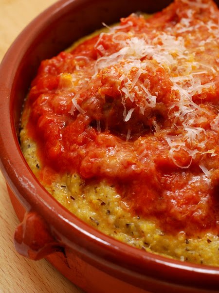 Polenta Taragna with Sausage Ragú ©