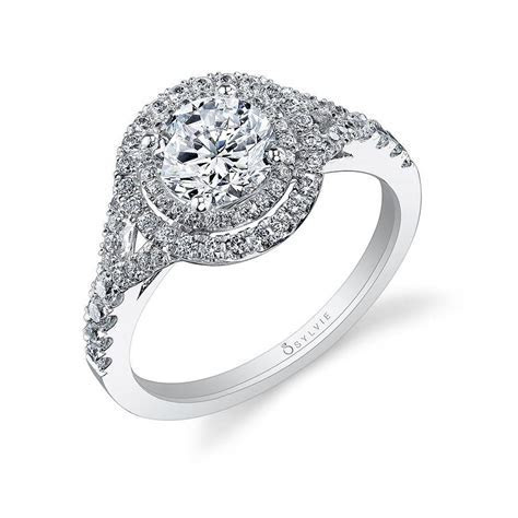 Double Halo Engagement Rings   Double Halo Diamond Ring