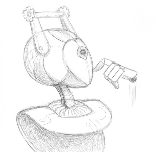 Daily Sketch:  Thought Bot