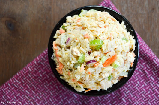Tuna and Rice Salad - My Craftily Ever After