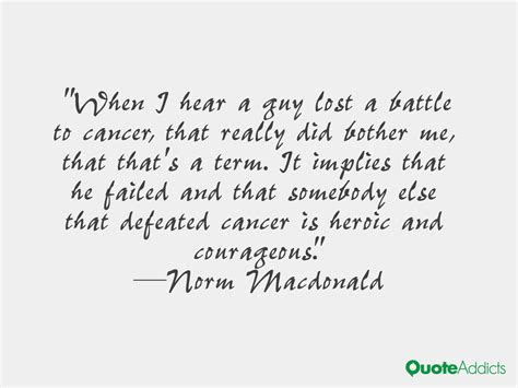 Lost Battle Cancer Quotes