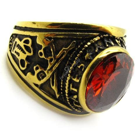 Whosale Price Red Cz Ruby Women'S Men'S Ring Royal Gold