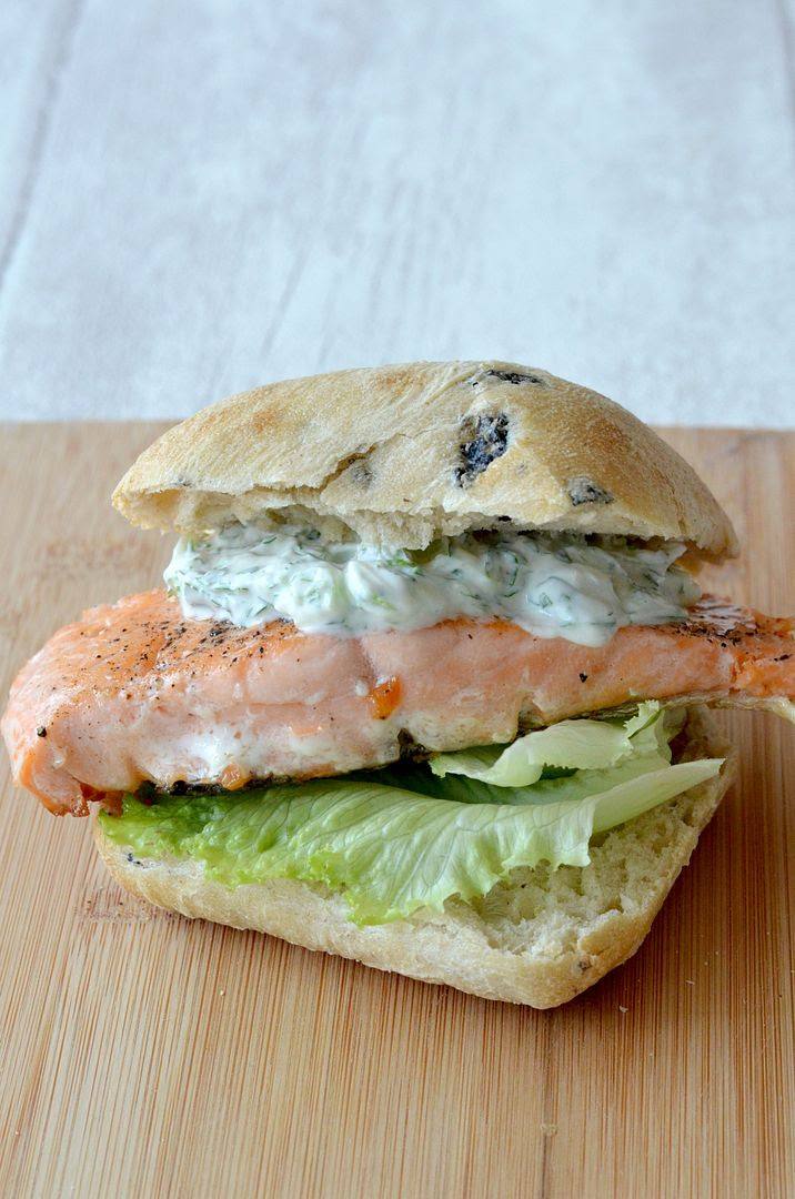 Simple Salmon Ciabatta Burger