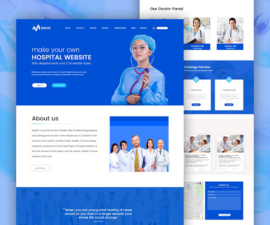 Hospital Website Template Free PSD Download - Download PSD