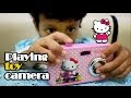 Bermain Kamera Mainan dan Memotret Hujan ❤ Playing toy camera and photograph the rain ❤ Hello Kitty