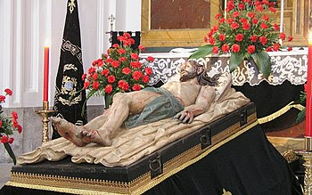 Statue of Jesus lying in the tomb (Monastery o...