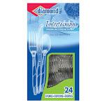 Diamond 98 Clear Plastic Cutlery, 24 Count
