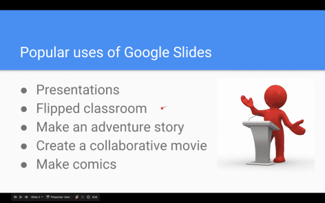 Google Slides (10) – Presenting your slides
