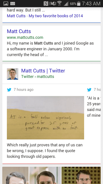 Search for Matt Cutts