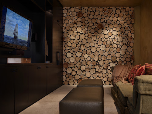 Yellowstone Residence Media Room traditional media room