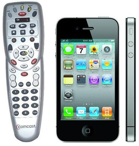 Comcast Remote vs iPhone4 by stevegarfield
