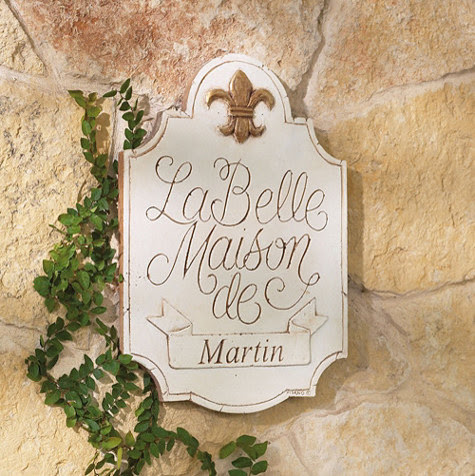 Personalized La Belle Maison Plaque - traditional - outdoor decor ...