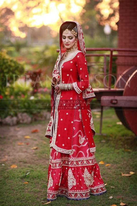 Bridal dresses in red color   Traditional Pakistani bridal