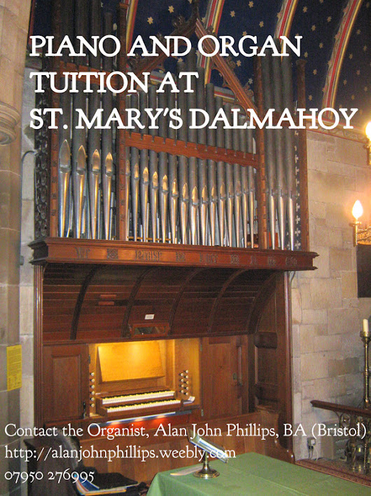 Come and learn the piano and organ at Dalmahoy! - Alan John Phillips, musician