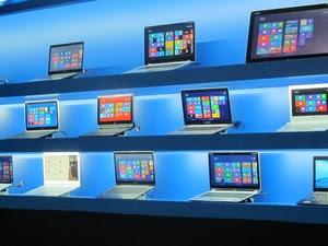 Novos Ultrabooks da Intel com Windows 8 (Foto: Daniela Braun/G1)