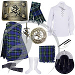Highland Kilts Outfit Argyll of Campbell Tartan Lion Rampant Accessories Set 10 pcs 36 / 3XL