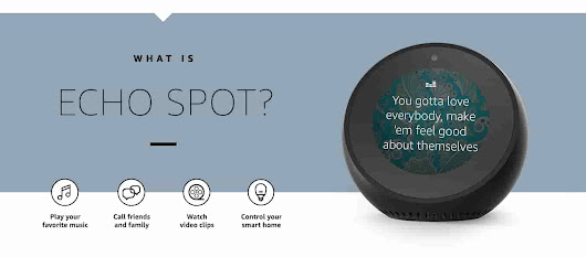 Introducing Echo Spot - Amazon Official Site - Stylish, compact Echo with a screen